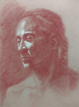 portrait by michael rogan portrait artwork by model michael scm model