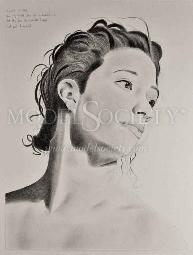 portrait emotional artwork by artist through the artist s eyes