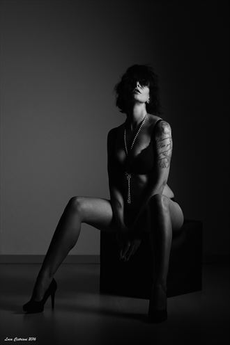 portrait lingerie photo by model annalisa model