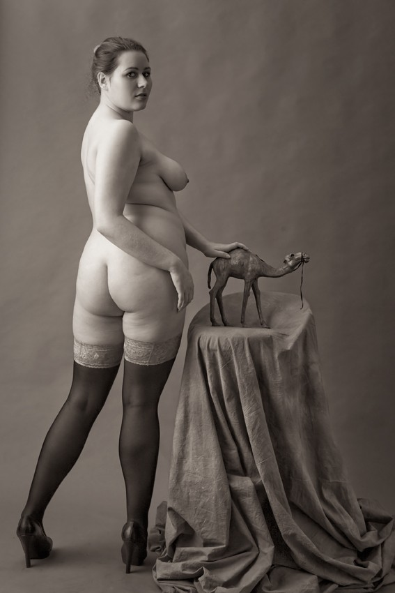 portrait of beauties with dwarf camel Artistic Nude Artwork by Photographer zanzib