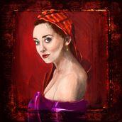 portrait study chiaroscuro artwork by artist nick kozis