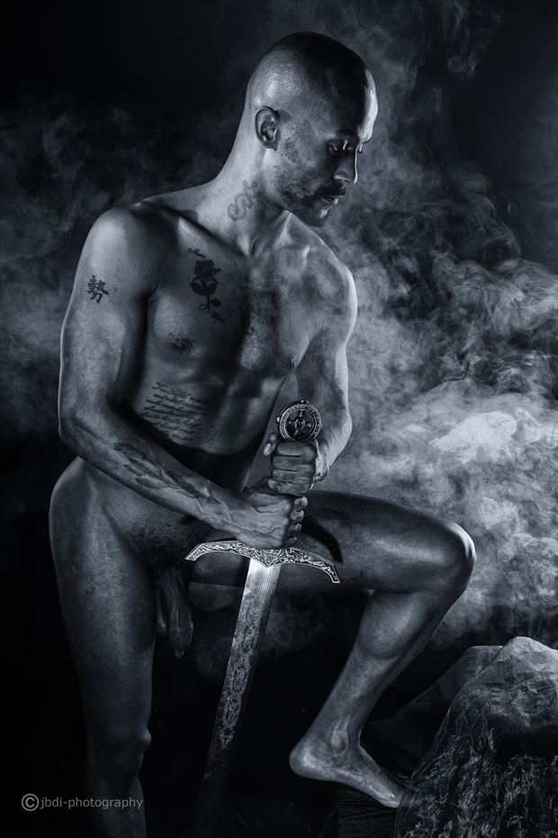 portrait with sword artistic nude photo by photographer jbdi