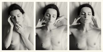 portraits with closed eyes artistic nude photo by model lileya
