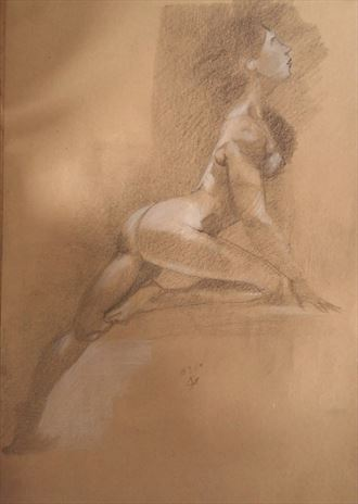 power on artistic nude artwork by artist alexandros makris