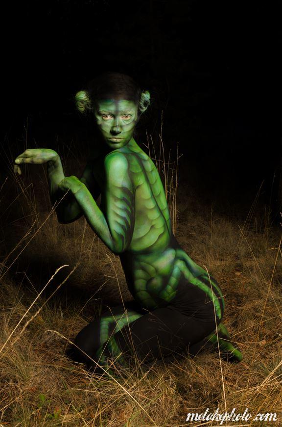 praying mantis abstract artwork by model missshawnak