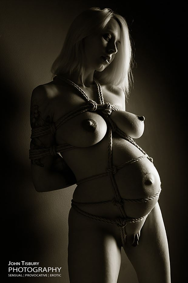 pregnant and bound erotic photo by photographer john tisbury