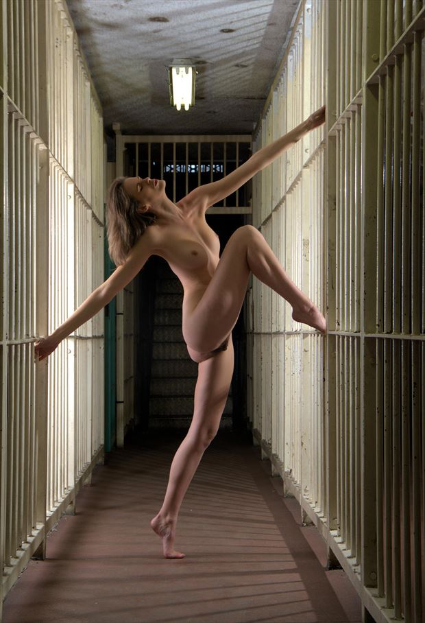 prison bars artistic nude photo by photographer russb