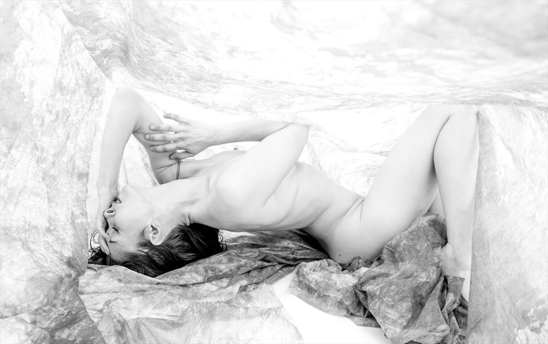 prone artistic nude photo by photographer toby maurer