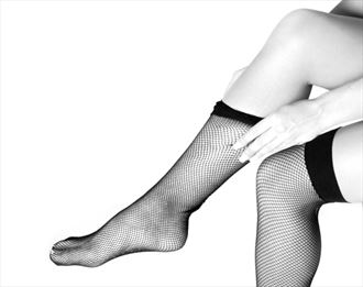 pulling on nylons 1 lingerie photo by photographer iansimpson