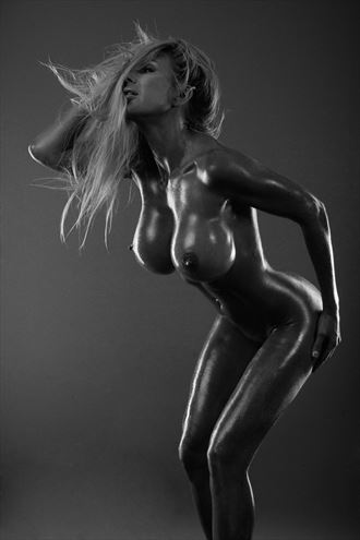 puma sweden oiled up artistic nude photo by photographer fred