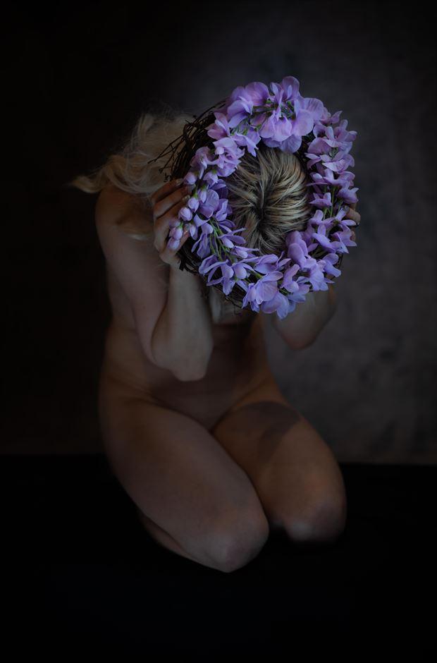 purple wreath artistic nude photo by photographer thatzkatz