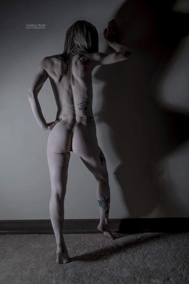 pushing back the shadows artistic nude artwork by model missshawnak