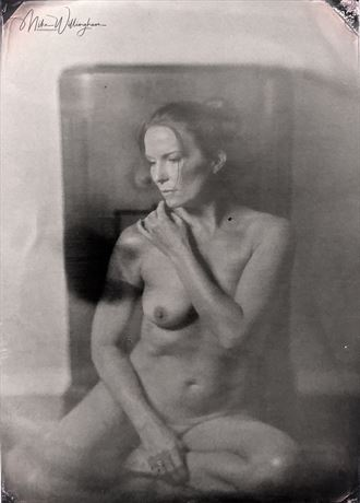 rachael wet plate on 5x7 tintype artistic nude photo by photographer mike willingham