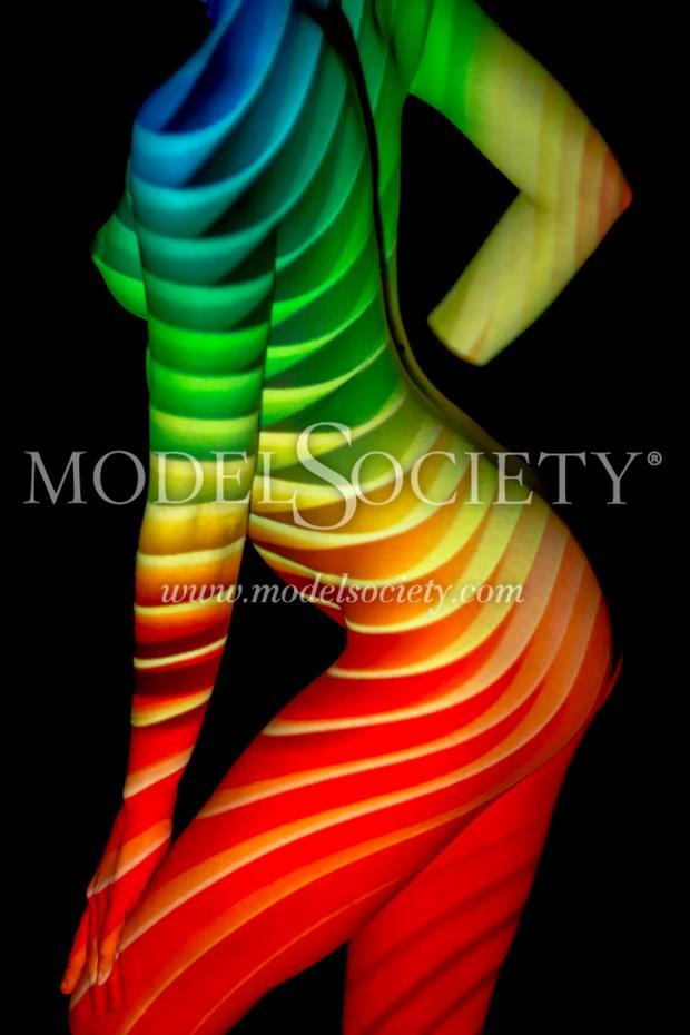 rainbow of a lady surreal artwork by photographer photoguymike