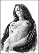 rapunzel artistic nude artwork by artist subhankar