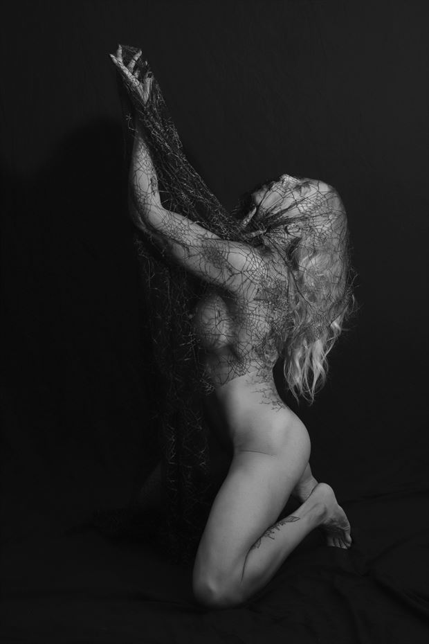reaching out artistic nude photo by photographer bill milward
