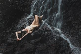recline at the falls artistic nude photo by photographer korry hill