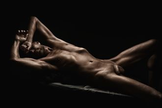 reclined artistic nude photo by photographer r pedersen