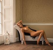 reclining beauty artistic nude photo by model carmen model