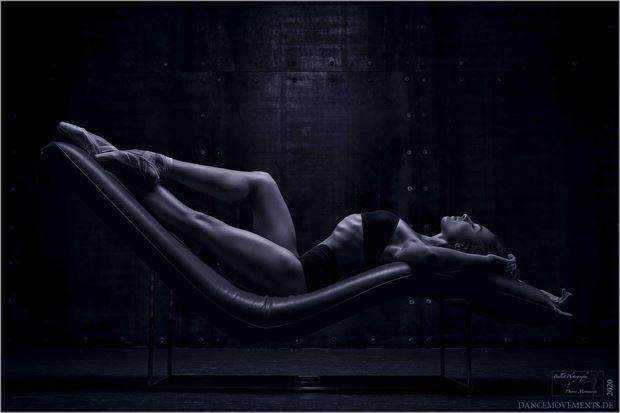 reclining lingerie artwork by photographer dance movements by klaus wegele