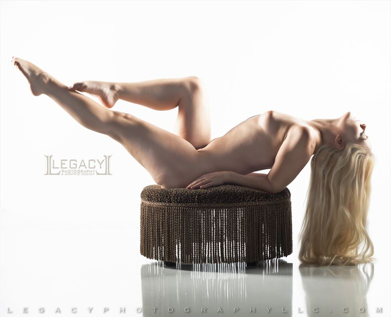 reclining nude long blonde hair artistic nude photo by photographer legacyphotographyllc