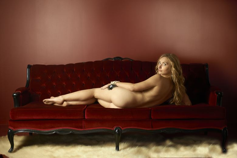 reclining woman artistic nude photo by photographer greg
