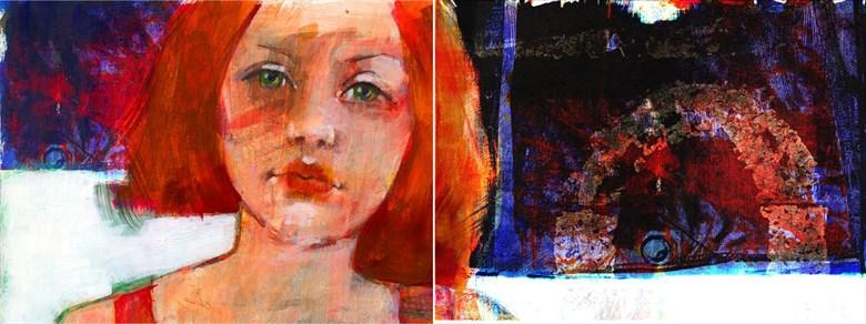 red Digital Artwork by Artist JonD