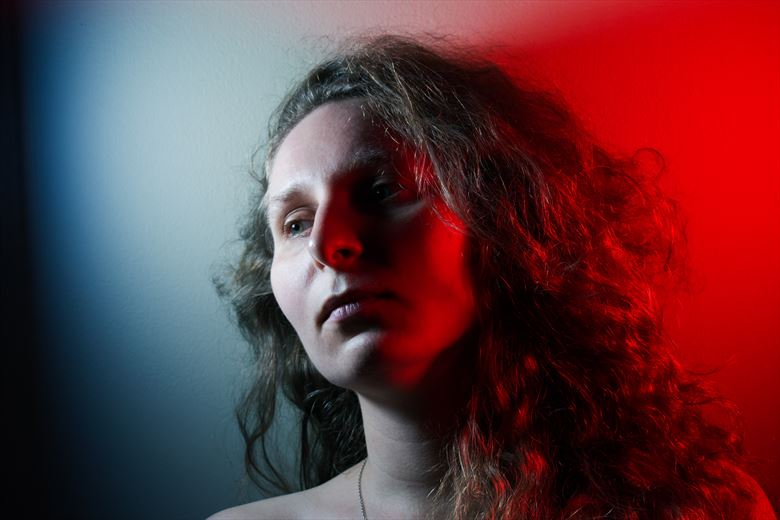 red and blue sensual photo by photographer ayvenaswulff