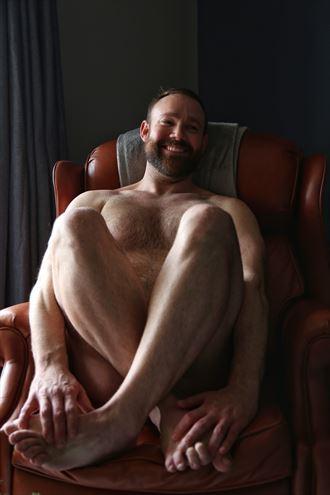 red arm chair artistic nude photo by photographer ashleephotog