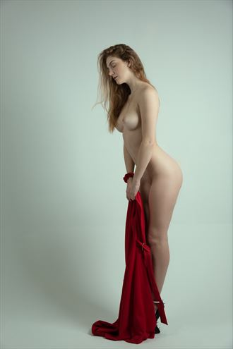 red artistic nude photo by photographer jonathan c