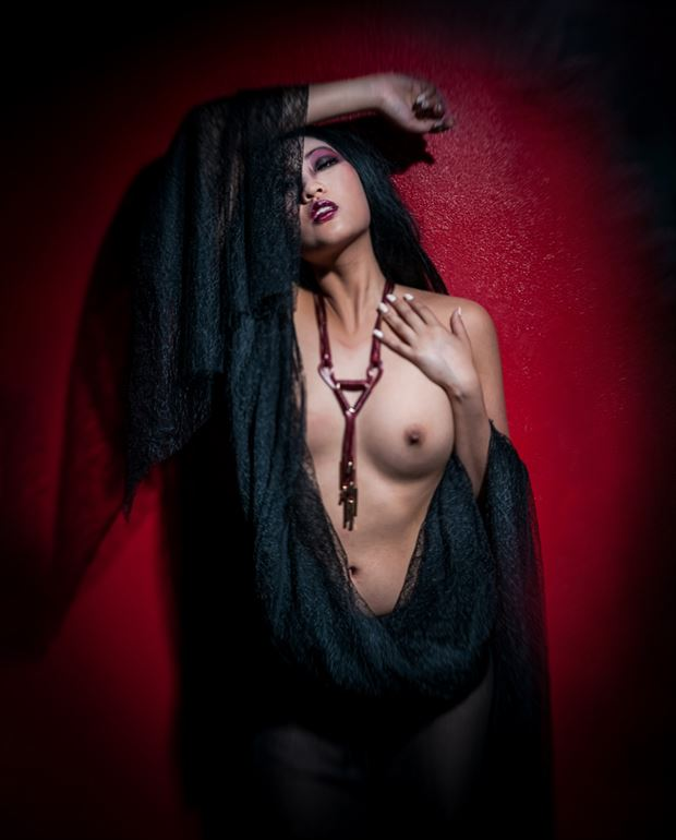 red artistic nude photo by photographer o j