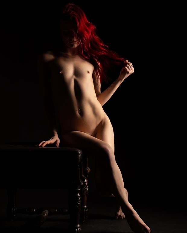 red artistic nude photo by photographer paul a arbogast