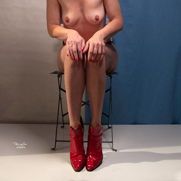 red boots artistic nude photo by model pure