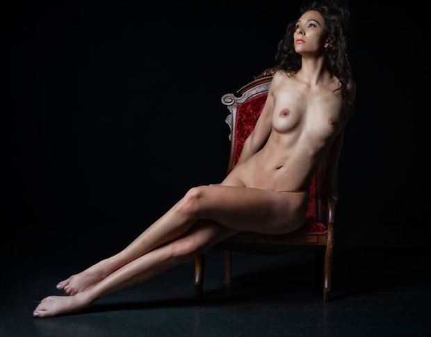 red chair artistic nude photo by photographer dream digital photog