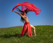 red flower dance artistic nude photo by photographer aspiring imagery