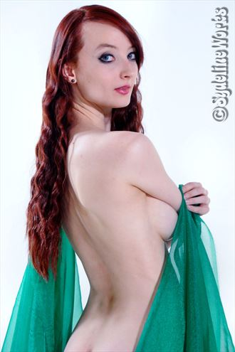 red in green glamour photo by photographer sydeline mark