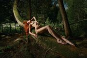 red in the green artistic nude photo by photographer photonumerik