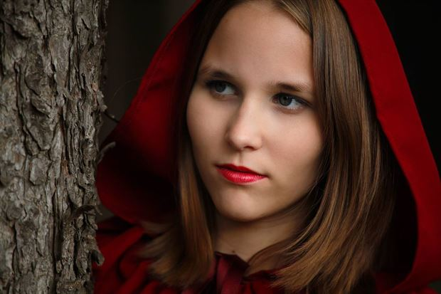 red riding hood 1 portrait photo by photographer marc schoonackers