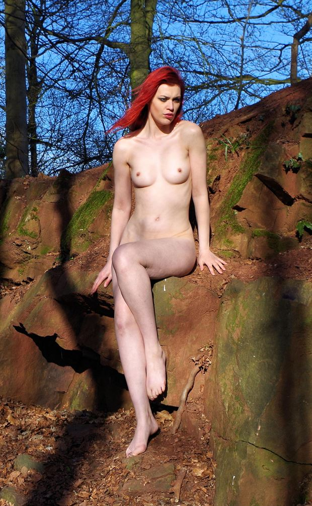 red rocks red hair artistic nude photo by photographer russb