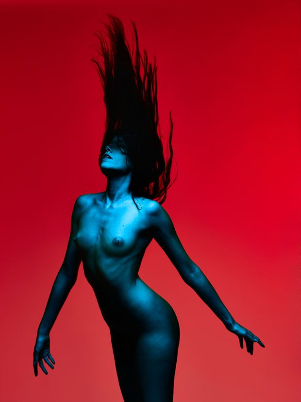 red turquoise nude artistic nude photo by photographer spphotographer