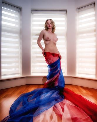 red white blue artistic nude photo by photographer neilh