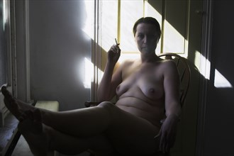 relaxed in natural light artistic nude photo by photographer dcp