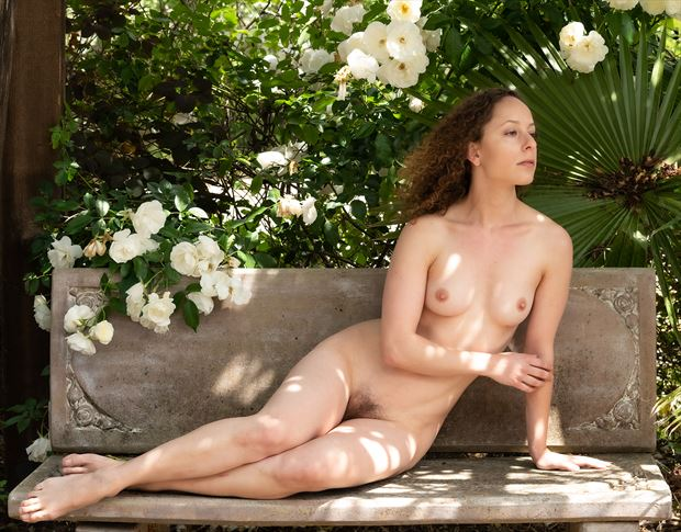 relaxing with the flowers artistic nude photo by photographer gpstack