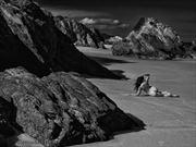 remote beach artistic nude photo by photographer sensual artz