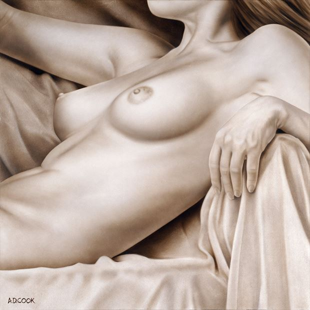 repose artistic nude artwork by artist a d cook