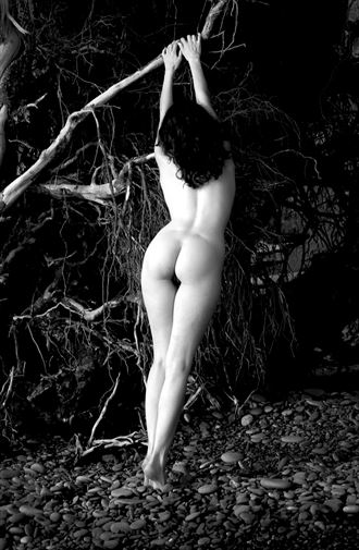 rialto beach artistic nude photo by photographer eric lowenberg