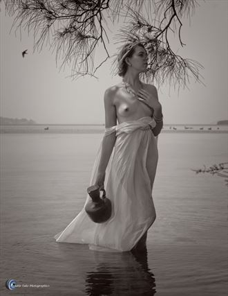 riley as thetis in the lake artistic nude photo by photographer willson photo