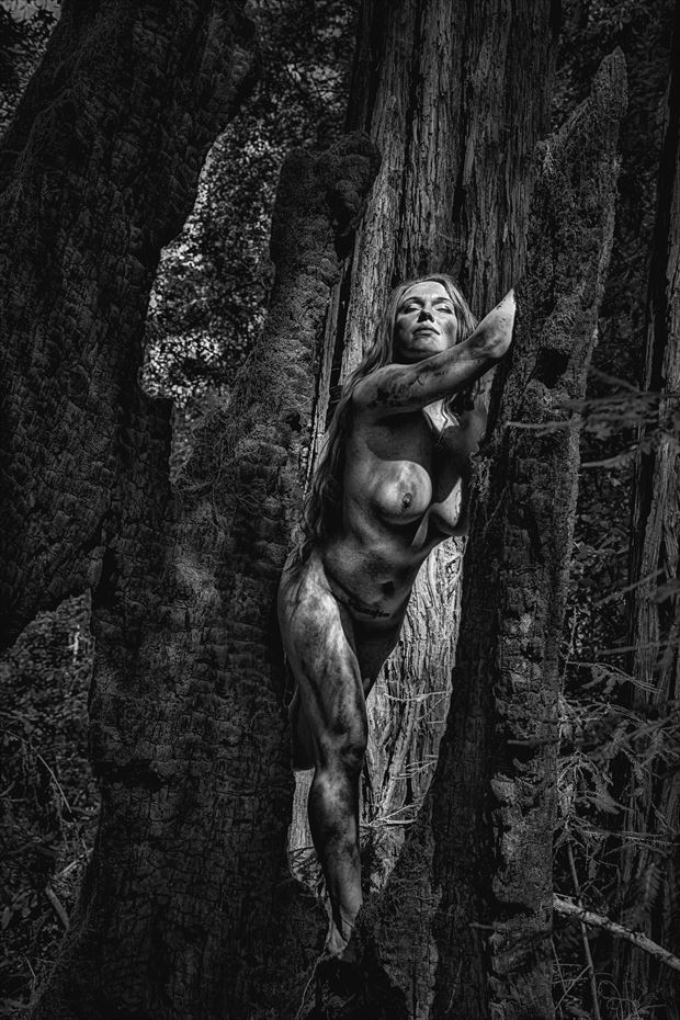 rising from the ashes artistic nude photo by photographer philip turner