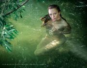 river bath artistic nude photo by model jay ban
