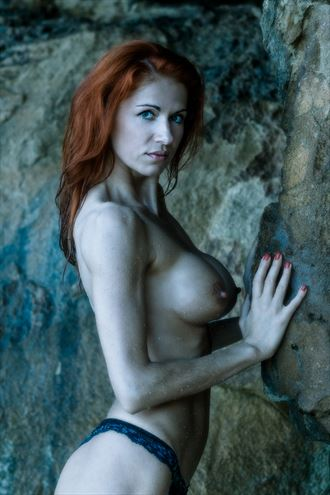 rock face artistic nude photo by model inna
